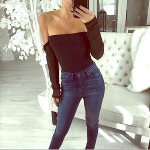 🆕🔃 ekAttire re-Posh bodysuit with sheer sleeves